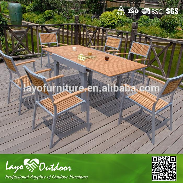 ISO 9001 factory garden set specific use teak dining chairs
