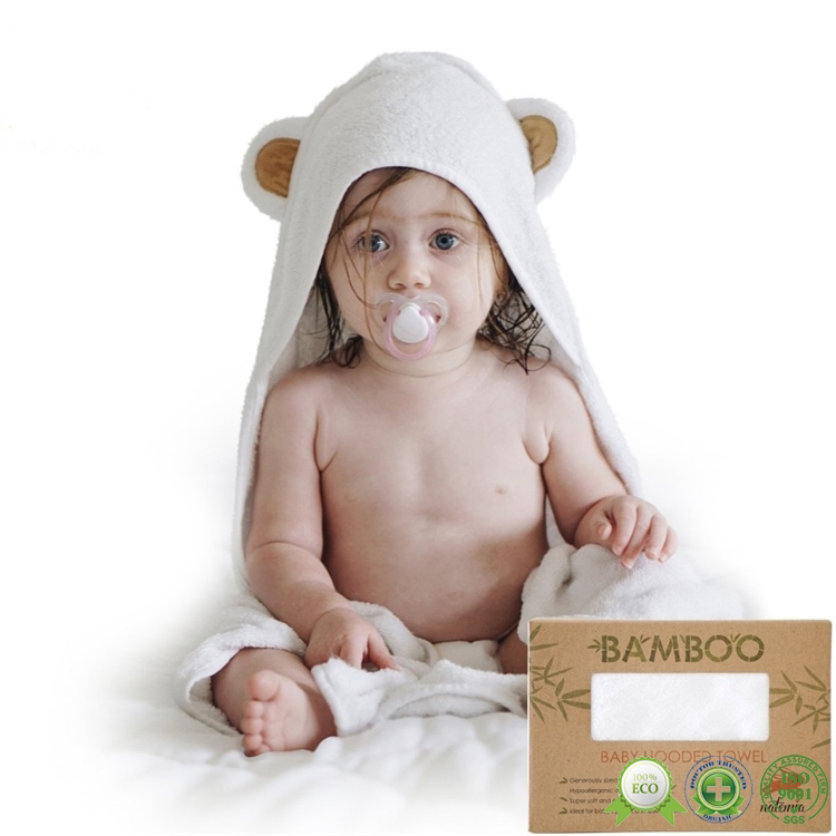 Wholesale promotional pure child organic bamboo animal baby hood <strong>towel</strong> with bear ears