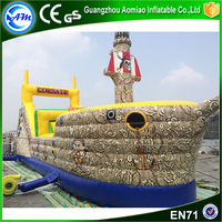 pirate ship theme giant commercial used inflatable water slide for sale