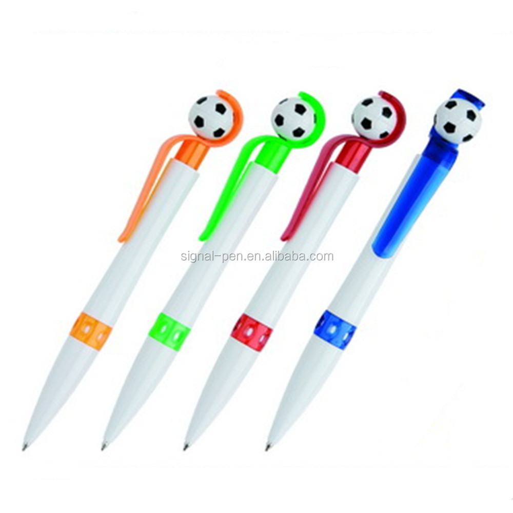 Cheap football head advertising plastic funny pen promotional