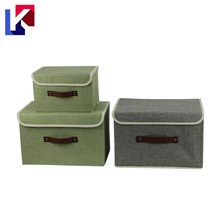 Most Popular foldable fabric Cotton fabric and cardboard cube storage box with lid
