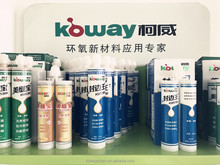 Two part epoxy tile grout adhesive