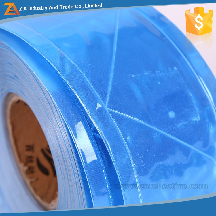 3M PVC Clear Bright Light Weight Sew On Reflective Sew Blue Reflective Tape