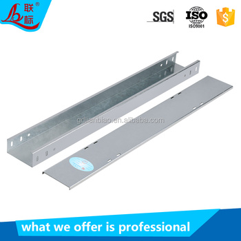 Galvanized heavy duty trough type perforated cable tray wiring accessories