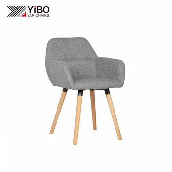 Wholesale High Quality Fabric Backrest Wooden Bar Stool
