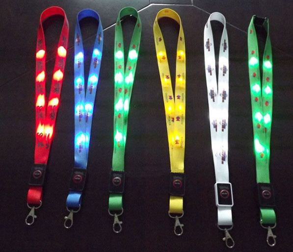 Popular LED Flashing light up Lanyard with your LOGO