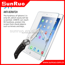 Tempered glass screen cover for ipad air,for ipad air invisible shield glass protector
