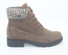 Factory Direct Low Price Safety Work Boots With Warm Knit Collar