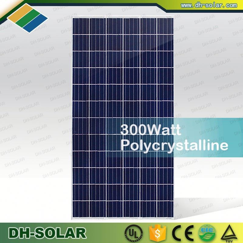 Hot selling Low Iron Glass Solar PV Module 300Watt Poly crystalline
