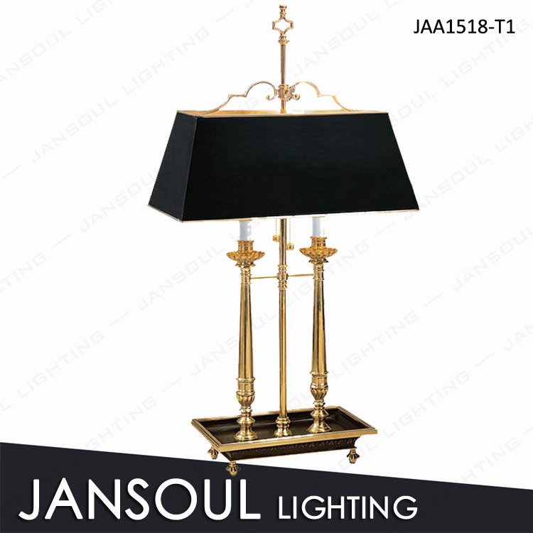High end unique brass table lamp for bedroom