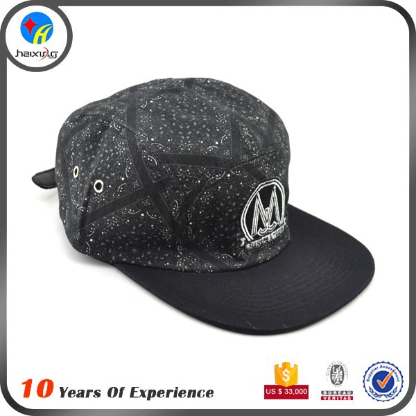 custom leather strap 5 panel hats manufacturers