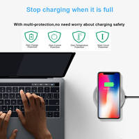 New UFO design make with tempered glass elegant outlook wireless charger with 10w fast charging for samsumg