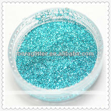 Rainbow color Hexagon glitter powder for artifical flower