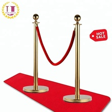Gold Plated Queue Rope Barrier Stanchions for Sale