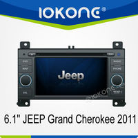 External microphone 2 din Touch screen Car DVD Radio for Jeep Grand Cherokee 2011 model