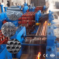 Hot rolling mill production line for rebar/wire rod
