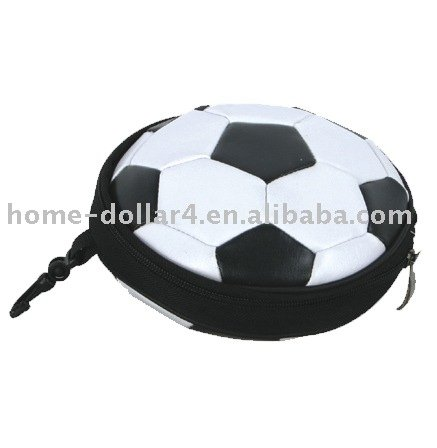 round 24pages Neoprene CD case with football design