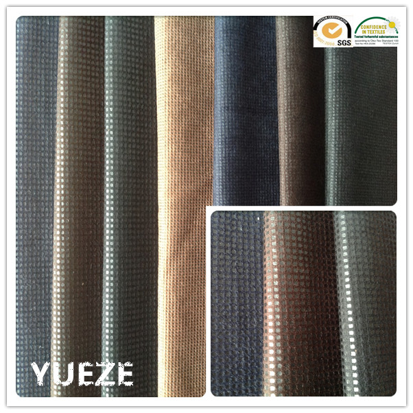 100% polyester bronzed velvet knitting fabric for garment/sofa/bags