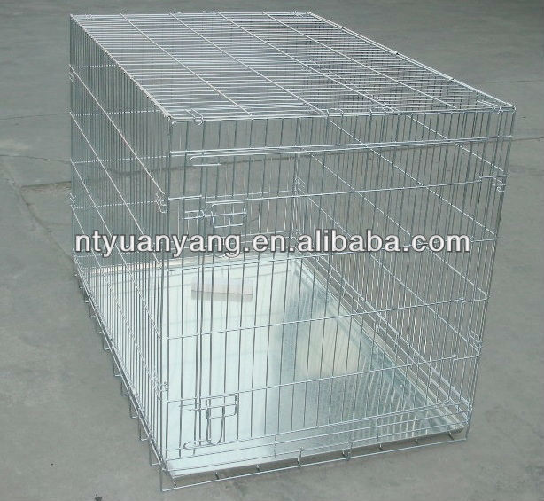 safety wire steel bar travel carrier pet cage dog crates stainless steel