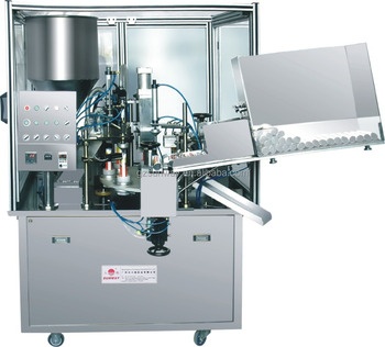 automatic laminated tube filler and sealer machine for cosmetics toothpaste cream lotion