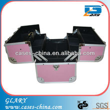Aluminum cosmetic/makeup/beauty train case(box)/carrying case
