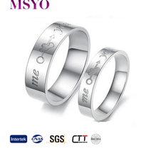 MSYO brand ring new style Me Love You lettering titanium steel ring fashion wedding ring