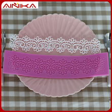 Custom design silicone fondant moulds cake lace decorations