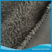 370gsm polyester fleece bonded sherpa fabric