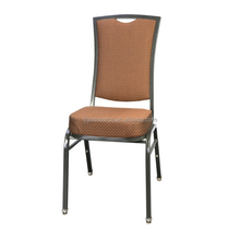 Stackable steel banquet hall chairs