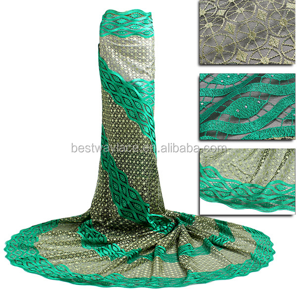China factory outlet nigeria bridal embroidered tulle lace fabric wholesale
