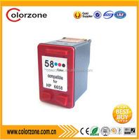 Compatible cheap printer hp ink cartridge C6658A for hp deskjet 450 5150 5850w