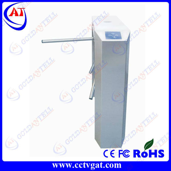Three pod half height fast pass supermarket entrance turnstile mechanism for rfid door access control system