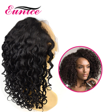 Curly Natural Color For Black Woman Glueless Virgin Brazilian Human Hair Full Lace Wigs