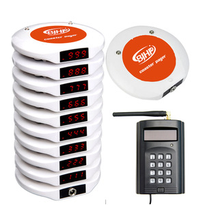 Wireless customer restaurant service system for restaurant guest paging system