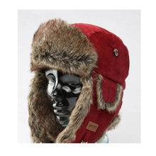 Russia Men Custom Faux Fur Earflap Winter Ski Trapper Hat