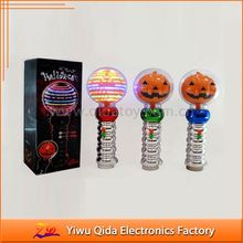 wholesale light up music pumpkin stick halloween pumpkin led stick