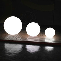 handsfree bass player outdoor portable mini speaker solar garden lights spheres floating waterproof round led ball