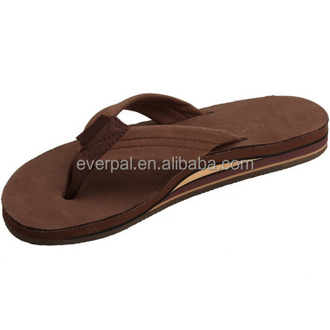 New Men 100% Leather Flip Flop