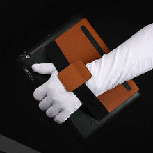 Hot selling high quality armband leather case for ipad 2 3 4 with loud speaker , cases for tablets