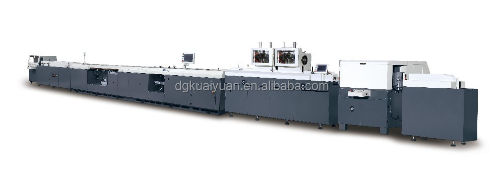 HY619 book production line book spine gluing machine with gauzing unit binding machine
