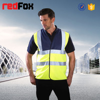 waterproof safety 100% polyester police reflective vest
