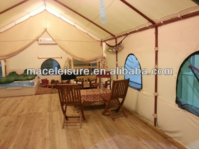 large canvas outdoor glamping tent / star hotel tent