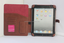 Business multiple function elastic band universal brief case pocket leather cover for ipad