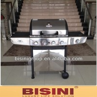 NEW Euro-Grille Stainless Steel 4 Burner BBQ Barbeque Gas Outdoor Kitchen Grill (BF10-M467)