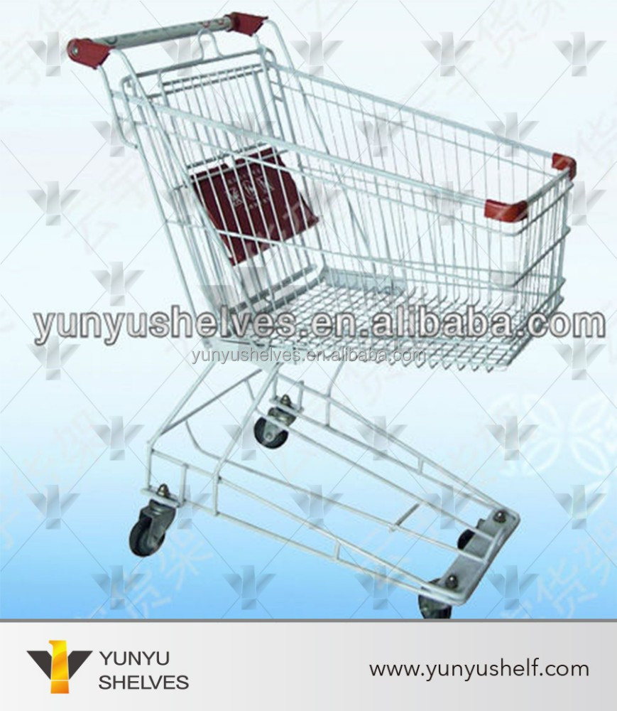 used supermarket four big wheel rack and trolley