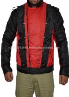 Men's Pepsi black & red parachute down jacket-Perforated Quilted Jacket