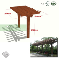 G-MORE Professional Manufacturer Super Strong Elegant Aluminium Solid PC Curved Patio Cover Pergola