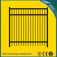 Guangzhou factory Free Sample 2m*2.5m wrought iron fence fittings wrought iron fence gate