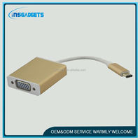 type-c network adapter ,H0T117 usb 3.1 type c to vga female converter , usb-c adapter