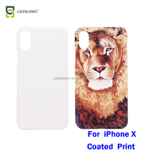 high quality blank sublimation phone case 2d 3d printable phone cases for iphone 10 for iphone x